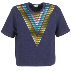 textil Dam Sweatshirts Manoush DOUDOU STAR Marin