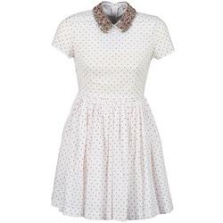textil Dam Korta klänningar Manoush PLUMETIS STRASS Vit / Röd