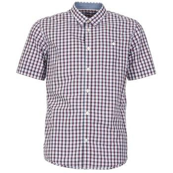 textil Herr Kortärmade skjortor Tom Tailor CATHARINI Vit / Röd / Svart