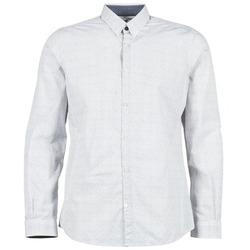 textil Herr Långärmade skjortor Tom Tailor MARCHALO Vit / Marin