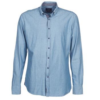 textil Herr Långärmade skjortor Hackett RILEY Blå