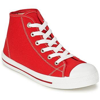 Skor Herr Höga sneakers Yurban WAXI Röd