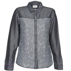 textil Dam Skjortor / Blusar Esprit Denim Blouse Grå