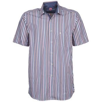 textil Herr Kortärmade skjortor Pierre Cardin 514636216-184 Blå / Rosa