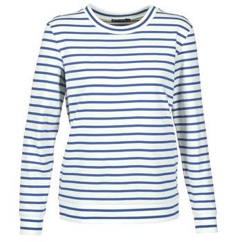 textil Dam Sweatshirts Petit Bateau BEAM Vit / Marin