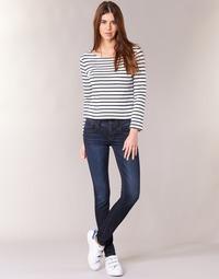 textil Dam Skinny Jeans G-Star Raw LYNN MID SKINNY Slander / Blå / Superstretch