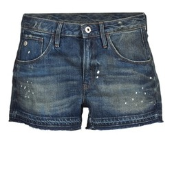 textil Dam Shorts / Bermudas G-Star Raw ARC BF RIPPED SHORT WMN Blå / Mörk