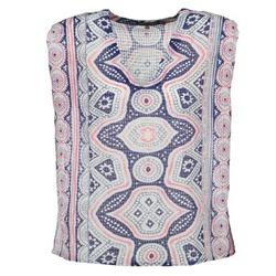 textil Dam Blusar Antik Batik JAGGA Blå / Flerfärgad