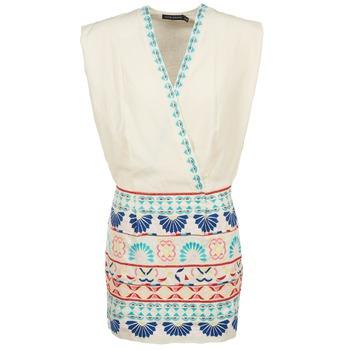 textil Dam Korta klänningar Antik Batik POLIN Vit / Flerfärgad