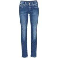 textil Dam Raka byxor Pepe jeans GEN Blå / D45