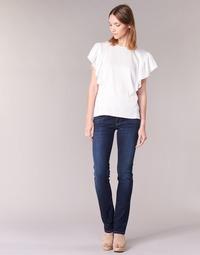 textil Dam Raka byxor Pepe jeans GEN Blå / H06