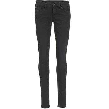 textil Dam Skinny Jeans Pepe jeans SOHO S98 / Svart