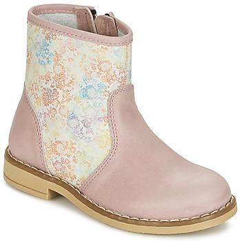 Skor Flickor Boots Citrouille et Compagnie OUGAMO LIBERTY Rosa / Flowercolor