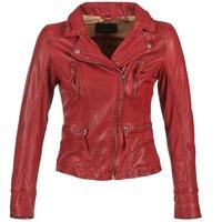 textil Dam Skinnjackor & Jackor i fuskläder Oakwood 60861 Röd