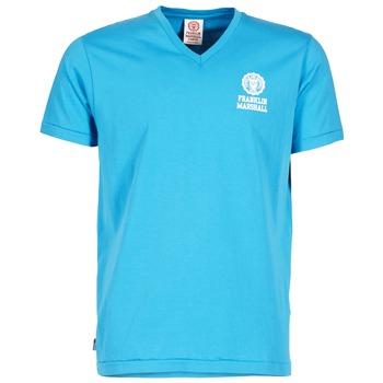 textil Herr T-shirts Franklin & Marshall DOBSON Blå