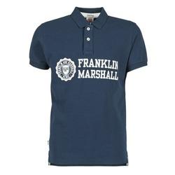 textil Herr Kortärmade pikétröjor Franklin & Marshall AYLEN Marin