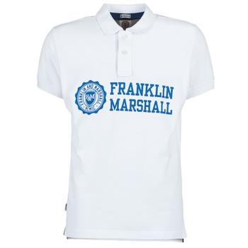textil Herr Kortärmade pikétröjor Franklin & Marshall AYLEN Vit