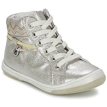 Skor Flick Höga sneakers Catimini CALLUNA Beige / Silverfärgad