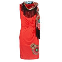 textil Dam Korta klänningar Desigual USIME Röd