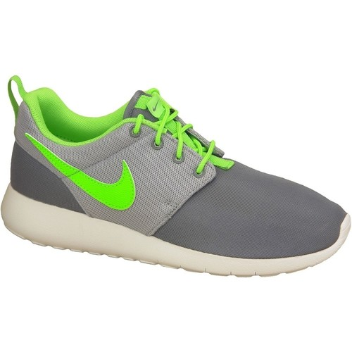 Skor Pojk Sneakers Nike Roshe One Gs 599728-025 Green,Grey,White