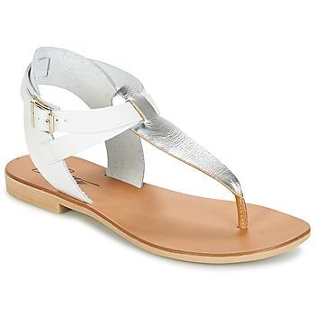 Skor Dam Sandaler Betty London VITALLA Silverfärgad / Vit
