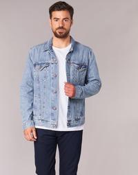 textil Herr Jeansjackor Levi's THE TRUCKER JACKET Blå