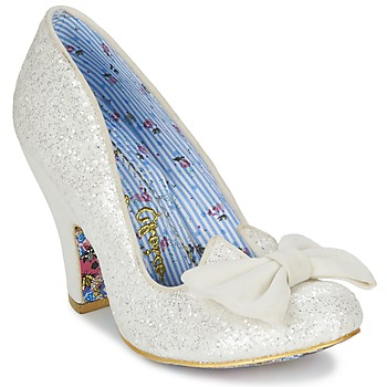 Skor Dam Pumps Irregular Choice NICK OF TIME Vit / Paljett
