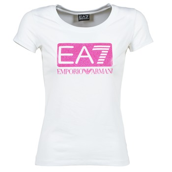 textil Dam T-shirts Emporio Armani EA7 BEAKON Vit