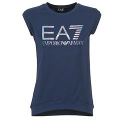 textil Dam T-shirts Emporio Armani EA7 ANDROUL Marin