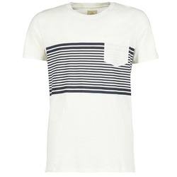 textil Herr T-shirts Selected LIAM Vit