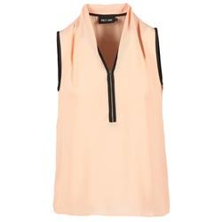 textil Dam Blusar Only FIA ZIP Orange / Pastell / Svart