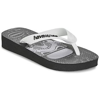 Skor Pojk Flip-flops Havaianas STAR WARS Svart / Vit