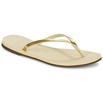 Skor Dam Flip-flops Havaianas YOU METALLIC Guldfärgad