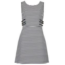 textil Dam Korta klänningar Morgan RMARI Marin / Benvit