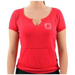 textil Dam T-shirts Converse  Rosa