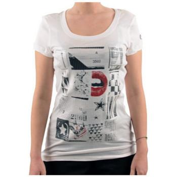 textil Dam T-shirts Converse  Vit