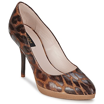 Skor Dam Pumps Escada AS701 Brun / Leopard