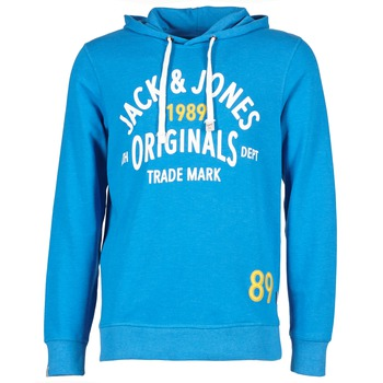 textil Herr Sweatshirts Jack & Jones ATHLETIC SWEAT ORIGINALS Blå