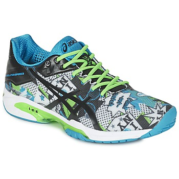 Skor Herr Tennisskor Asics GEL-SOLUTION SPEED 3 L.E. NYC Vit / Svart / Blå