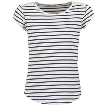 textil Dam T-shirts Moony Mood EIYA Vit / Blå