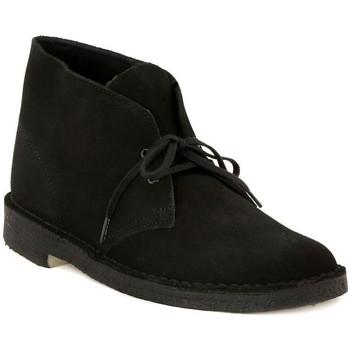 Skor Herr Boots Clarks DESERT BOOT BLACK Nero
