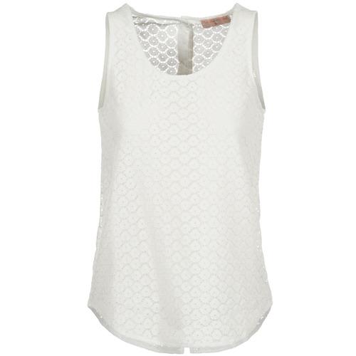 textil Dam Linnen / Ärmlösa T-shirts Moony Mood IGUOHIAVINE Vit