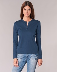 textil Dam Långärmade T-shirts BOTD EBISCOL Marin