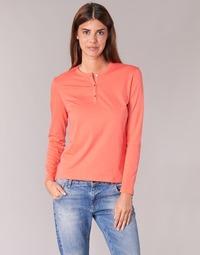 textil Dam Långärmade T-shirts BOTD EBISCOL Orange