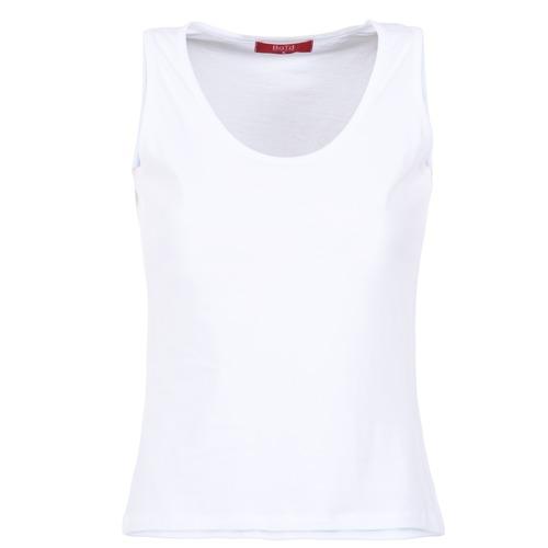 textil Dam Linnen / Ärmlösa T-shirts BOTD EDEBALA Vit