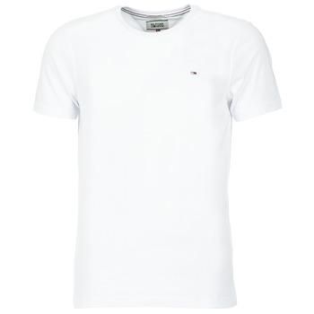 textil Herr T-shirts Tommy Jeans OFLEKI Vit
