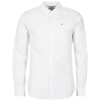 textil Herr Långärmade skjortor Tommy Jeans KANTERMI Vit