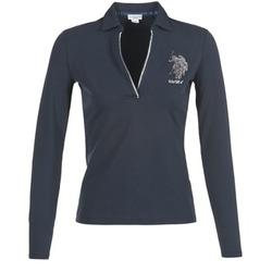 textil Dam Långärmade pikétröjor  U.S Polo Assn. CRISTINE Marin