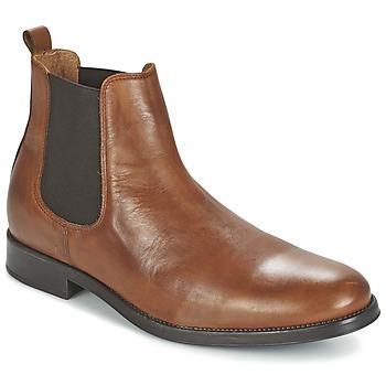 Skor Herr Boots Selected SHDOLIVER CHELSEA BOOT NOOS COGNAC