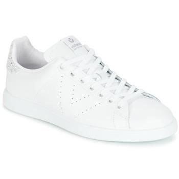 Skor Dam Sneakers Victoria DEPORTIVO BASKET PIEL Vit / Silverfärgad